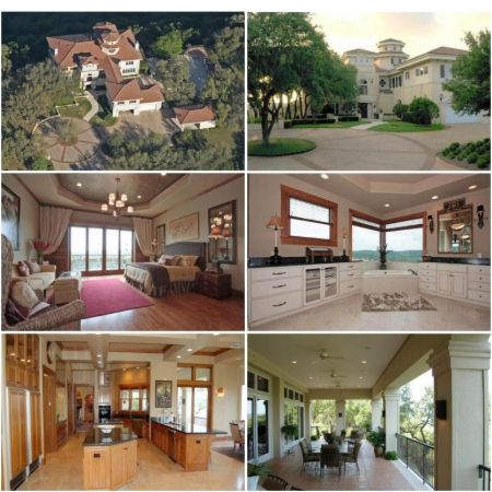 Photos of Matthew McConaughey's mansion in Austin, Texas. The mansion spreads over 10,000 sq. ft.
