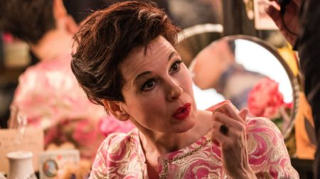 Renee Zellweger in her role of Judy Garland in 2019 biopic Judy. Prosthetic were used to make Renee look like Judy.