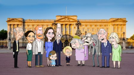 cartoon version of all the memebers of royal family