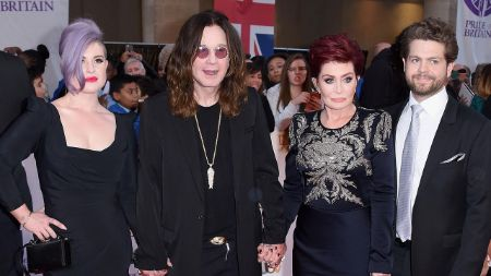 ozzy with wife sharon and two kids