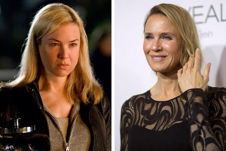 Renée Zellweger before 2010 and during her appearance at Elle Magazine's Women in Hollywood' celebration.