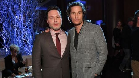 The 'True Detective' duo Nic Pizzolatto and Matthew McConaughey.