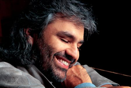 The 61 years old visually impaired opera singer Andrea Bocelli.