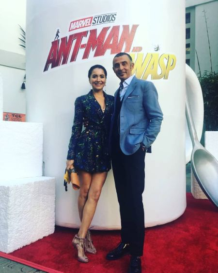 Shaun Toub with his wife Lorena attending the premiere of the marvel movie 'The Ant-Man and the Wasp'.