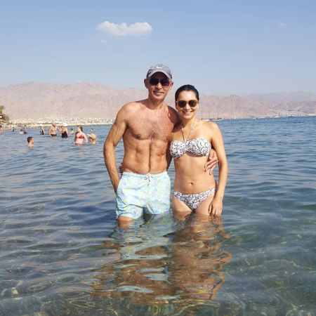 Shaun took to Instagram a picture of him and his wife enjoying the sea at Eilat, Israel.
