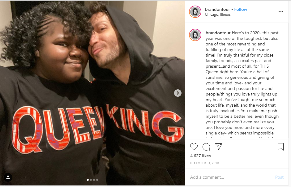 Gabourey Sidibe is in relationship with her boyfriend Brandon Frankel.