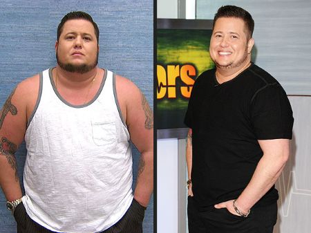 Chaz Bono's before and after picture.