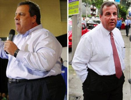 Chris Christie lost between 90 and 100 pounds after lap band surgery.