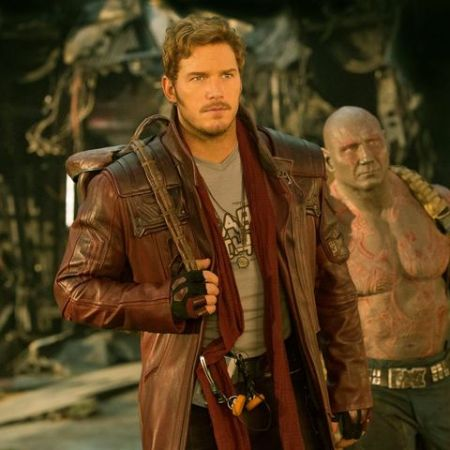 Chris Pratt caught on the camera while shooting for 'Guardians of the Galaxy.'