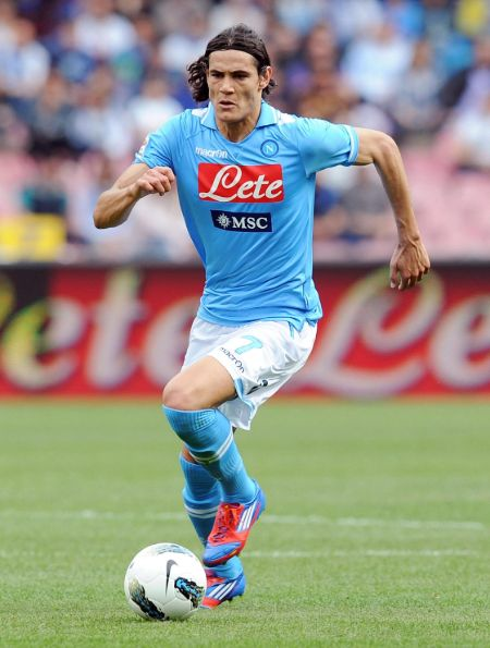 Cavani signed for Napoli on a loan deal of €5 million.