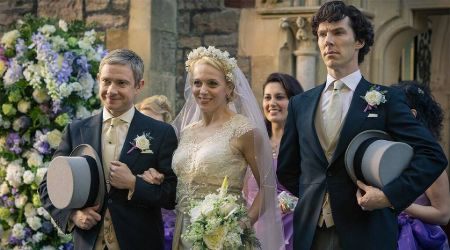 Martin and Amanda never got married in real life, but their characters in 'Sherlock' did.
