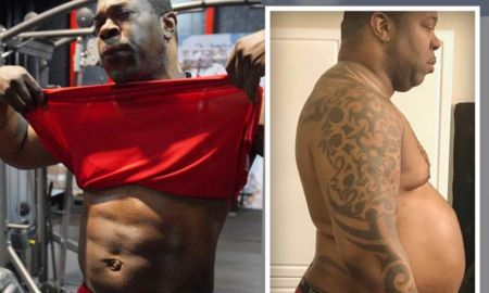 Before weight loss and  after weight loss journey of Busta Rhymes.