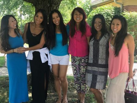 Christine Bui with her mother and sisters.