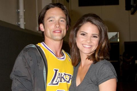 Jay Kenneth poses a picture with ex-girlfriend Shelley Hennig.