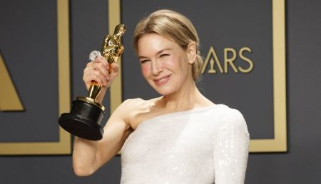 Renee Zellweger wins the 2020 Academy Award for 'Best Actress.'