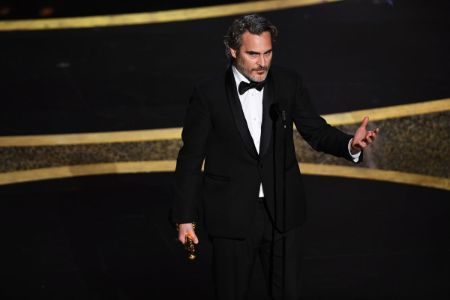 Joaquin Phoenix wins the 2020 Academy Award for the 'Best Leading Actor.'