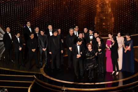 The South Korean movie 'Parasite' wins the Best Picture at the 2020 Oscars.