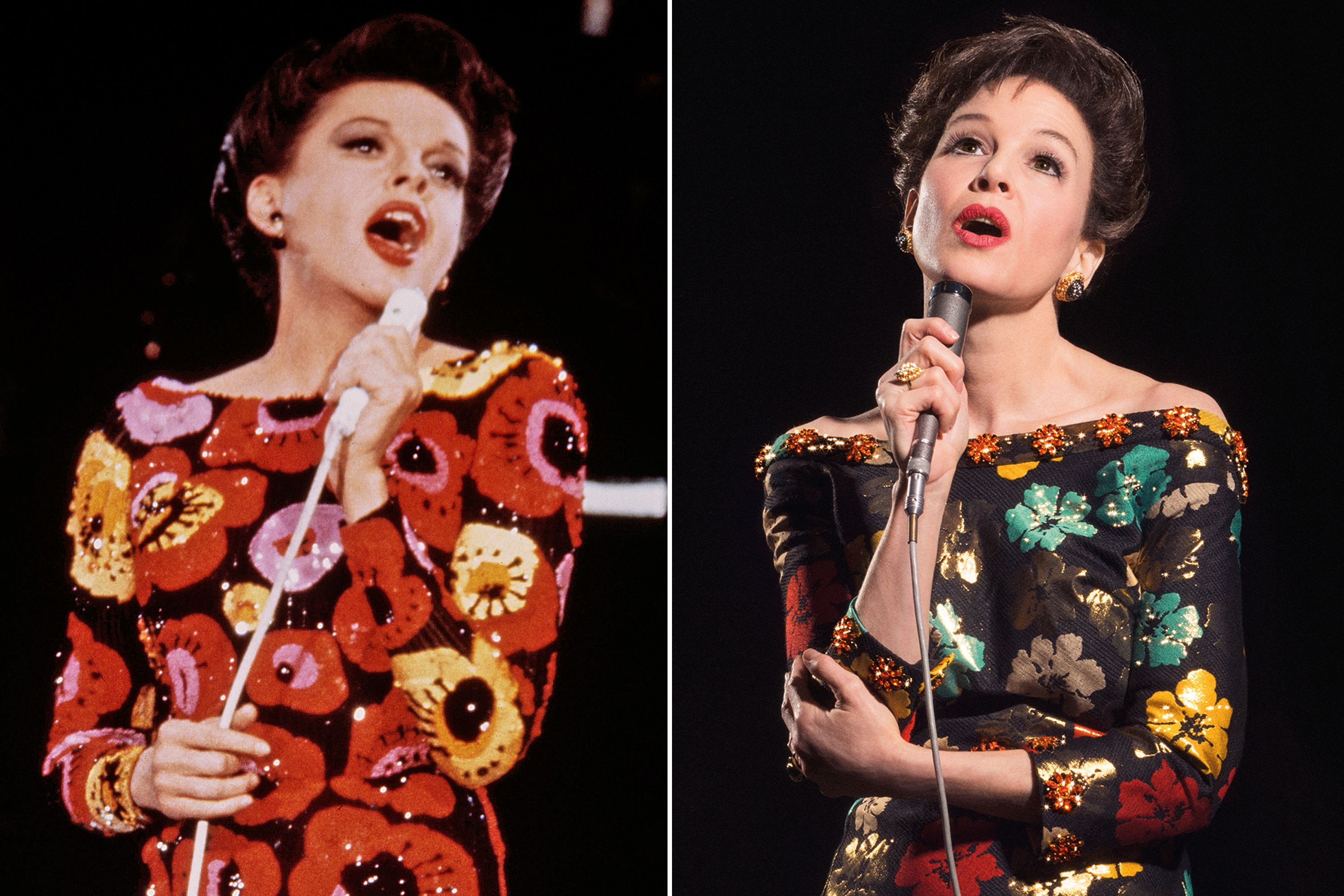 left judy garland singing right renee as judy garland