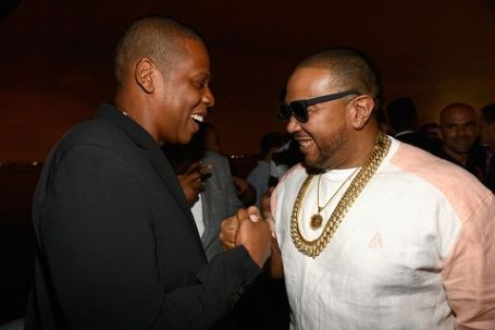 timbaland shakin hands with jay z