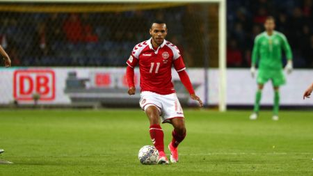 Martin Braithwaite also played for the EFL Championship side Middlesbrough.