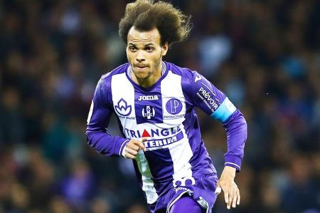 Martin Braithwaite played for the French club Toulouse in 2013.