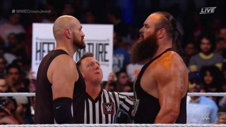 Tyson Fury was involved in a brawl with Braun Strowman in WWE.