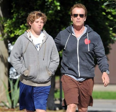 arnold walking with christopher on the street
