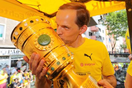 Thomas Tuchel won the DFB-Pokal in 2016-2017 season for Borussia Dortmund.