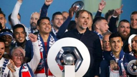 Thomas Tuchel won the Ligue 1 trophy in 2018-2019 season.