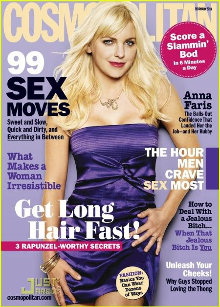 anna in a purple dress on the cover of cosmopolitan magazine