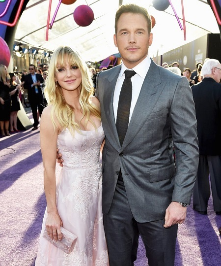 Chris Pratt and Anna Faris at an event.