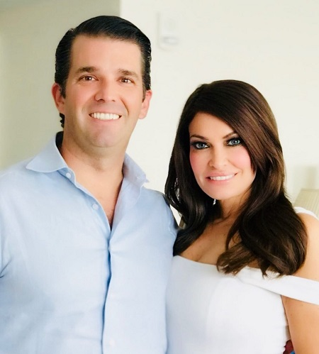 The incredibly FaceTuned photo of Kimberly Guilfoyle and boyfriend Donald Trump Jr.