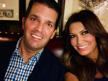 Kimberly Guilfoyle and Donald Trump, Jr. taking a selfie.