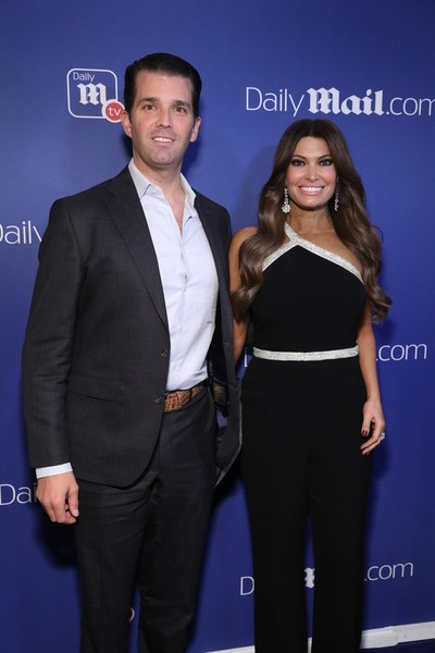 Donald Trump Jr. and Kimberly Guilfoyle attend the DailyMail.com and DailyMailTV Holiday Party at Gramercy Terrace at The Gramercy Park Hotel on December 11, 2018 in New York City.