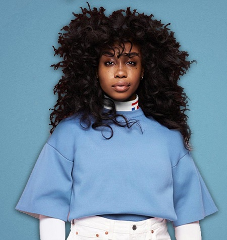 SZA in a photoshoot for InStyle Magazine.