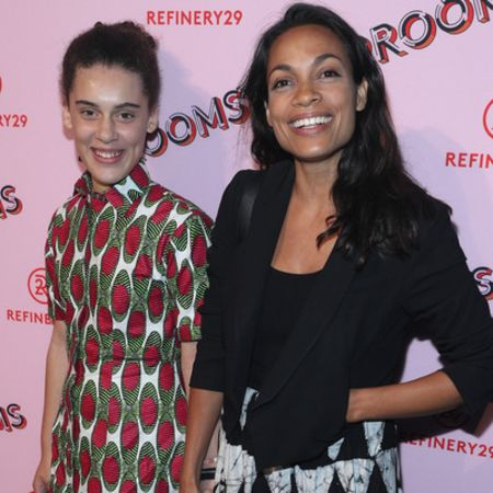 Rosario Dawson and her daughter at a Refinery event.