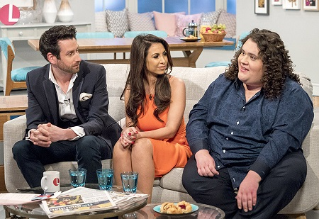 Jonathan Antoine, Jamie Raven and Francine Lewis during their 'Lorraine' appearance.