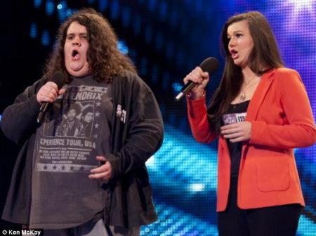 Jonathan Antoine in 2012 performing at Britain's Got Talent.