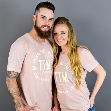 Maci Bookout poses a picture with her husband Taylor McKinney.