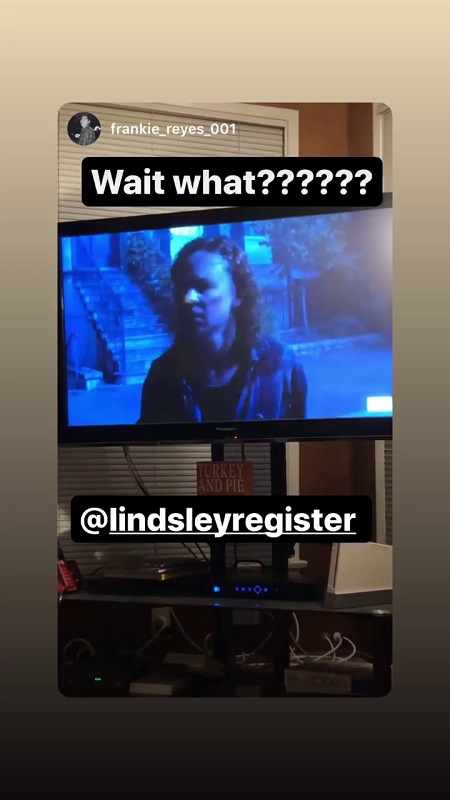 'Wait What?' written on the screen from Register's Instagram story.