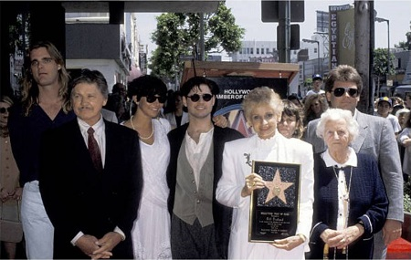 Charles Bronson, Jill Ireland and family during Jill Ireland Honored with a Star on the Hollywood Walk of Fame at 6751 Hollywood Blvd. in Hollywood, California, United States.