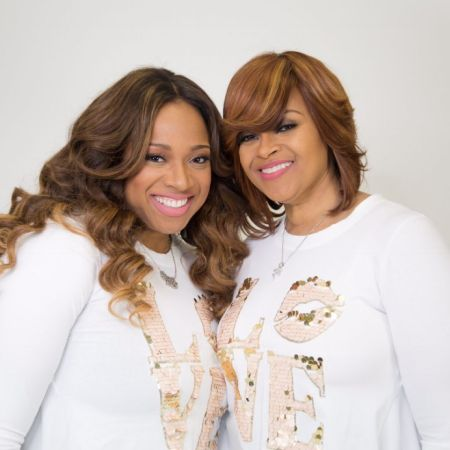 Karen Clark Sheard poses for a picture with daughter Kierra Clark.