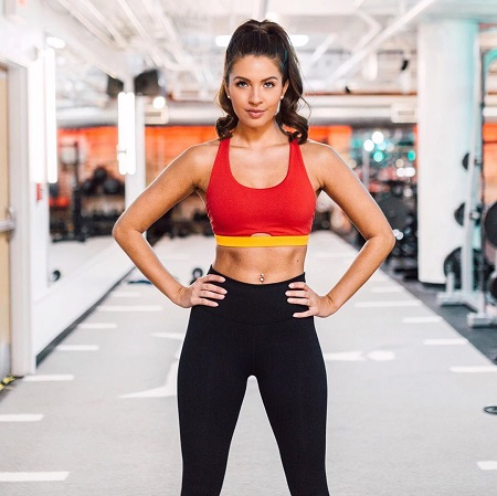 Angela Amezcua in workout clothes.