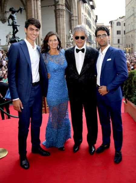 Amos Bocelli is the eldest son of Andrea Bocelli and his first wife, Enrica Cenzatti.