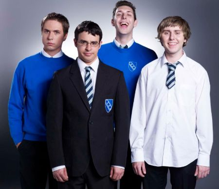 the four members from the inbetweeners show