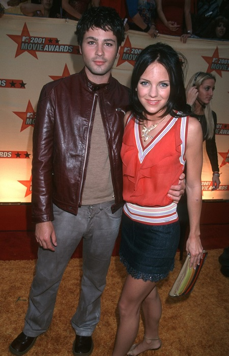 Ben Indra and ex-wife Anna Faris at the MTV Awards in 2001.