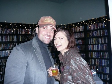 Stana Katic and husband Kris Brkljac at the 'Castle' Christmas Party, Dec. 2008.
