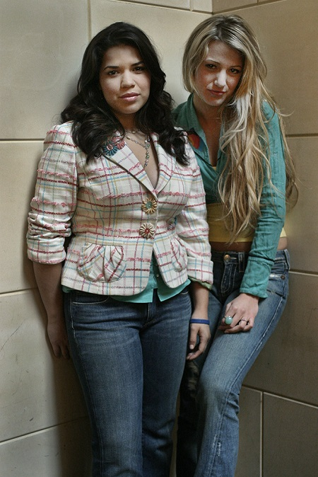 America Ferrera and Blake Lively, May 2005, at the Windsor Arms Hotel.
