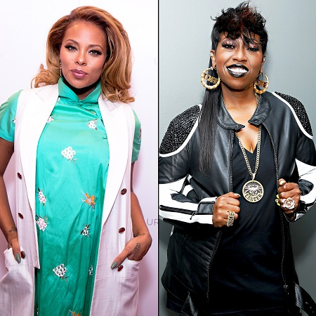 Eva Marcille and Missy Elliot in two different photos.