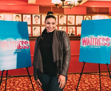Jordin Sparks outside the theater for 'Waitress: a New Musical'.
